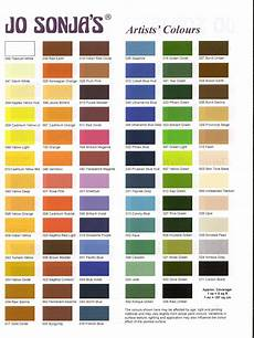 Paint Chart Jo Sonja Color Chart Paint Color Chart Wine And Canvas