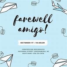 farewell card templates free customize 3 999 farewell invitation templates