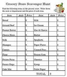 Making A Grocery List Worksheet Grocery Store Hunt Teaching Life Skills Life Skills