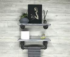 Light Grey Floating Shelves 7 25 Quot Deep Set Of Two Modern Rustic Gray Whitewash