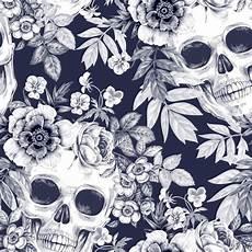 floral skull iphone wallpaper skulls and flowers fondo de calaveras fondos de