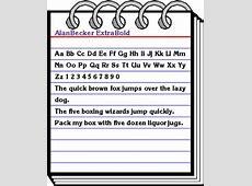 AlanBecker ExtraBold Font Download