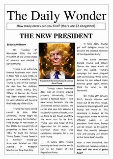 News Article Examples Trump Informative Newspaper Article And Activity Pupils