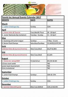 Calendar Of Events Template Word Annual Event Calendar Sample Templates At