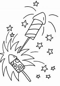 Neujahr Malvorlagen Silvester Raketen Ausmalbilder Basteln Silvester