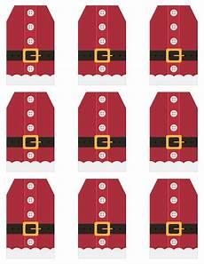 Santa Tag Free Printable Santa Suit Holiday Gift Tags A Gift To