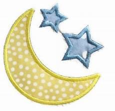Moon And Stars Design Moon Stars Machine Embroidery Applique Design