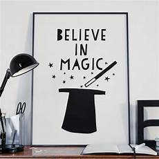 believe in magic print play room decor inspirational