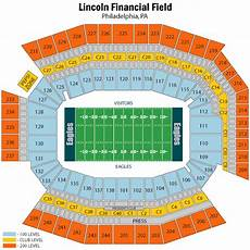 Eagles Stadium Seating Chart Lincoln Financial Field Seating Chart Views Amp Reviews