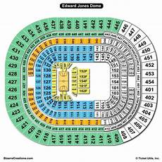 Edward Jones Dome Seating Chart Rows The Dome At America S Center Seating Chart Seating