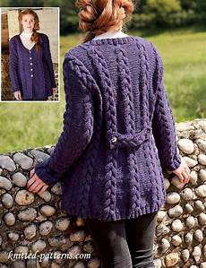 cabled jacket knitting pattern free