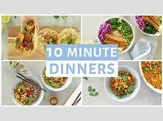 EASY 10 Minute Dinner Recipes   Healthy Dinner Ideas   YouTube