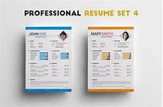 Professional Creative Resume Professional Resume Set 4 Resume Templates Creative Market