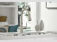 Moen 7594ESRS Arbor Single Handle/Hole Pull Down Kitchen Faucet with MotionSense   Spot Resist
