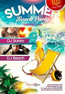 Beach Party Flyer Template Free Free Summer Beach Party Psd Flyer Template