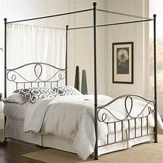 White Bed Canopy Iron Canopy Bed Frame Homesfeed