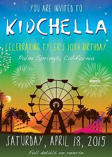 invitation ideas for party kidchella birthday party invites wedfest