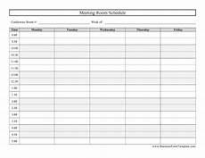 Booking Schedule Template Conference Room Schedule Template