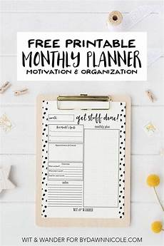 Free Printable Monthly Planner Free Printable Monthly At A Glance Planner Dawn