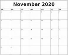 November 2020 Calendar Printable August 2020 Calendar Pages