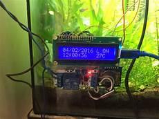 Fish Tank Light Timer Diy Fish Tank Timer Temperature Monitor Feeder