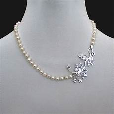 Designer Sterling Silver Necklaces Romantic Contemporary Jewelry Designer Necklace Of Pearls