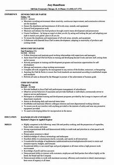 Chef De Partie Cover Letter Chef De Partie Cv Examples Uk Walsh S Hotel Chef De