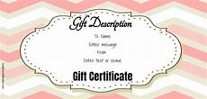 Editable Gift Certificate Template Free Gift Certificate Template 50 Designs Customize