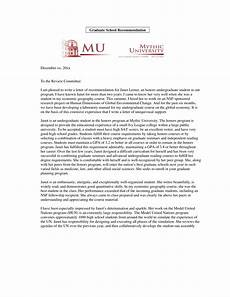 High School Letter Of Recommendation Template Personal Recommendation Letter Graduate School Templates