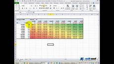 Make A Data Chart Three Way Data Table Excel Youtube