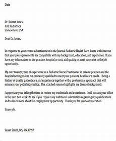 Pediatric Nurse Cover Letters Free 9 Nurse Cover Letter Samples In Ms Word Pdf