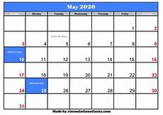 May 2020 Calendar Blank May 2020 Calendar With Holiday Calendar Template Printable