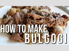 KOREAN BBQ RECIPE   BULGOGI   MARINATED THINLY SLICED BEEF