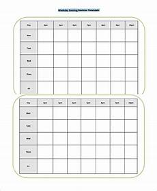 Blank Revision Timetable Template 27 Timetable Template Free Sample Example Format