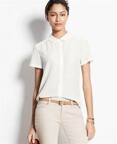 white silk sleeve blouse lyst silk sleeve blouse in white