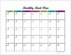 Monthly Plan Template Free Monthly Meal Planning Template Simply Unscripted