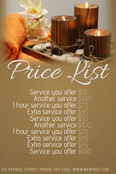 Pricelist Template Beauty Spa Or Beauty Salon Price List Template Postermywall