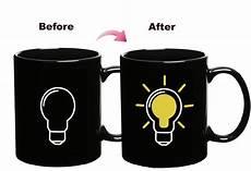 Light Bulb Mug Light Bulb Mugs Color Changing Magic Mug Heat Sensitive