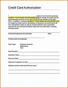 Credit Card Authorization Letter Template Credit Authorization Form Card Free Request And Forms
