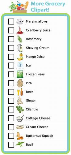 Making A Grocery List Worksheet Make Your Own List Mobile Or Printed Clip Art