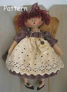pattern primitive raggedy doll folk fabric