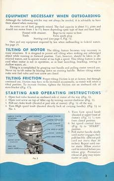1952 1954 Evinrude 3 Hp Owners Manual Utombordsb 229 T