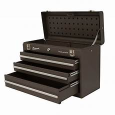 20 quot industrial three drawer friction toolbox homak