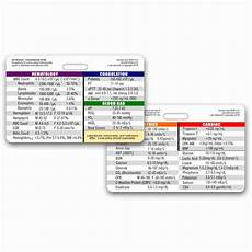 Lab Values Reference Card