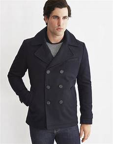pea coats for selected mercer pea coat in blue for lyst