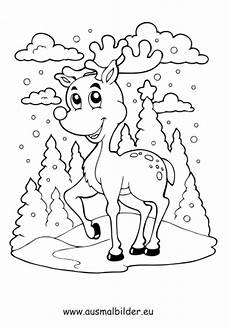 Malvorlage Rentier Weihnachten Ausmalbilder Weihnachtsrentier Weihnachtsrentier