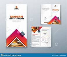 Bifold Flyer Bifold Brochure Design With Square Shapes Corporate