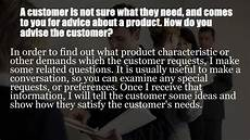 Interview Question And Answers For Customer Service Representative Sample Customer Service Interview Questions Youtube