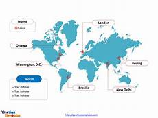 World Map Template Powerpoint World Map Free Powerpoint Templates Free Powerpoint