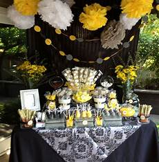 Graduation Party Designs Black Yellow And Gray Graduation Sweet Shoppe